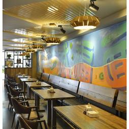 混搭风格中餐厅背景墙装修设计