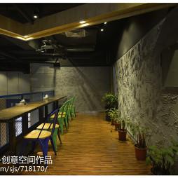 混搭風格中餐廳二樓裝修設計