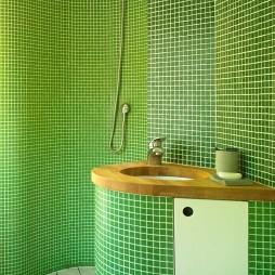 卫生间绿色马赛克设计图