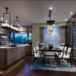 混搭风格餐厅厨房隔断设计效果图