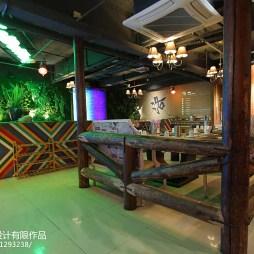 混搭风格中餐厅隔断装修设计
