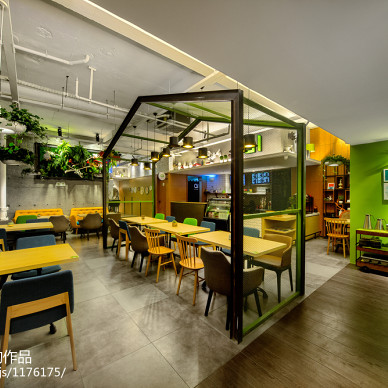 轻食咖啡厅装修设计