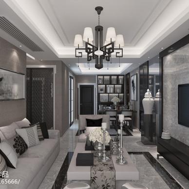 新中式客厅画装饰效果图