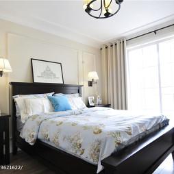 美式风格卧室窗户装修设计