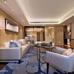 中式风格酒店式公寓客厅背景墙房装修设计