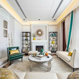 别墅混搭风格客厅窗户装修设计