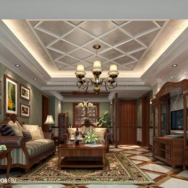 最新美式客厅装修效果图