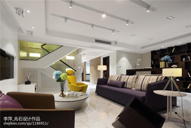 复式楼现代风格客厅装修设计
