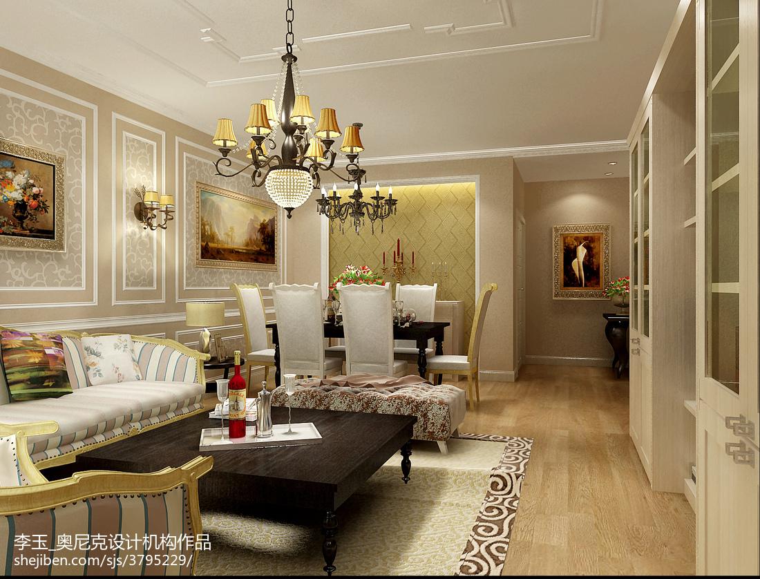 客厅墙纸设计效果图_欧式客厅壁纸装修效果图大全 – 设计本装修效果图