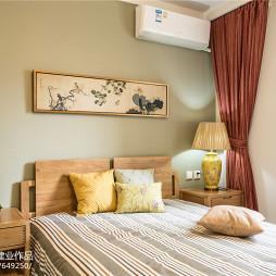 混搭现代卧室窗帘装修设计