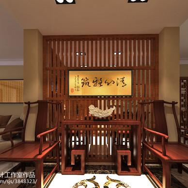 中式风格玄关镂空雕花装饰图片