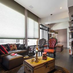 混搭风格客厅窗帘装修设计