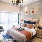 地中海风格卧室窗帘装修设计