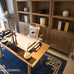 中式书房样板房装修设计