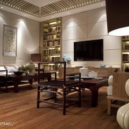 高级大饭店会客厅电视墙装修设计