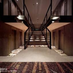高级大饭店楼梯设计