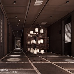 高级大饭店走廊吊顶装修设计