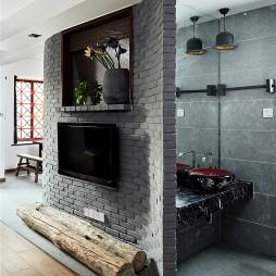 后现代中式客厅隔断设计