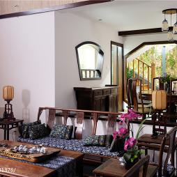 中式复式公寓客厅吊顶装修设计