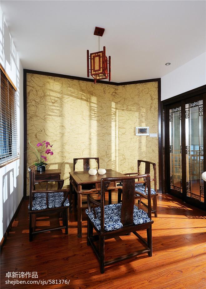 中式复式公寓休闲区吊顶设计效果图