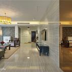 现代四居客厅电视背景墙装修设计