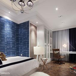 混搭风格样板房卧室书房设计