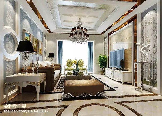 新古典客厅电视墙装修设计
