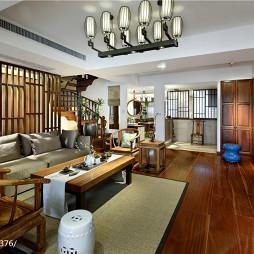 中式别墅客厅吊顶设计效果图