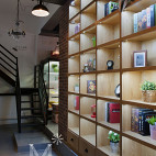饮品店楼梯设计效果图