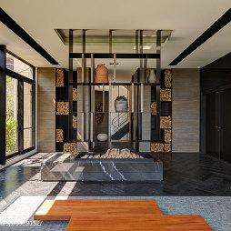 四居室现代客厅博古架装修设计