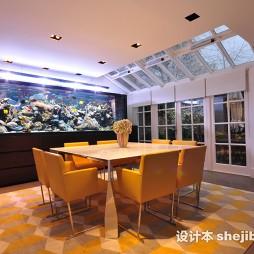 餐厅鱼缸效果图
