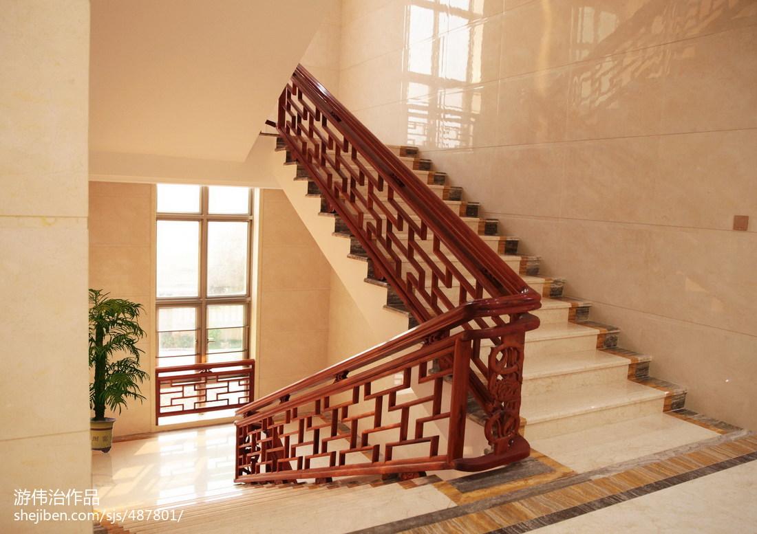地中海风格别墅图片_中式别墅楼梯装修设计效果图大全 – 设计本装修效果图