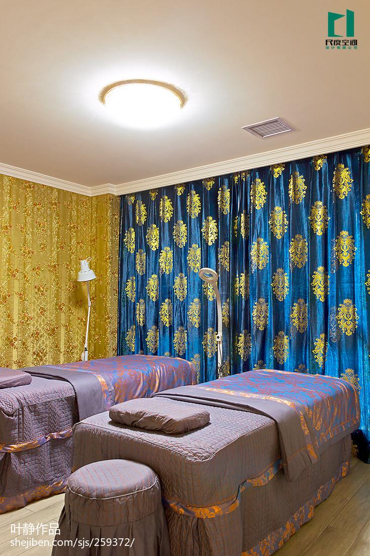 美容店面窗帘装修装饰图片
