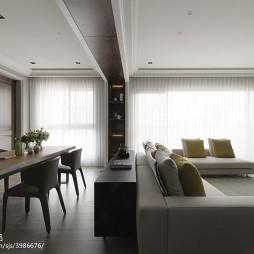 三居现代客厅隔断家装效果图