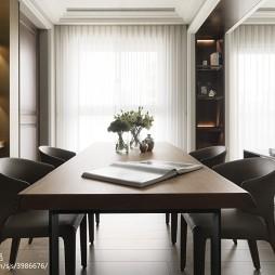 三居现代餐厅博古架家装效果图