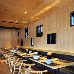 混搭风中式餐饮店卡座装修设计