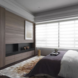 现代风卧室窗帘设计