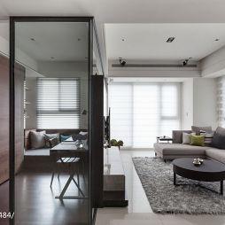 三居现代风格客厅隔断设计