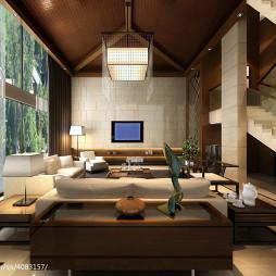 别墅客厅影视墙装修效果图欣赏