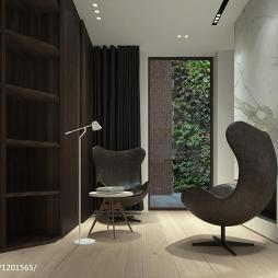 现代书房博古架设计装修图欣赏