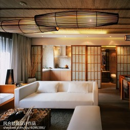 中式样板间客厅吊顶设计