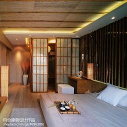 中式样板间卧室隔断设计