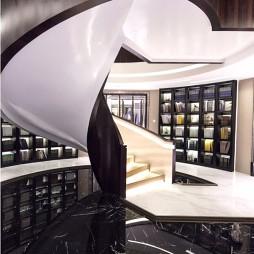 混搭风格样板间楼梯背景墙装修设计