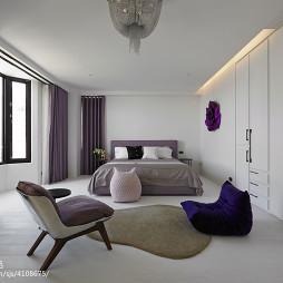 三居混搭风格卧室窗帘设计