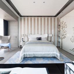 别墅样板房混搭卧室阳台装修设计