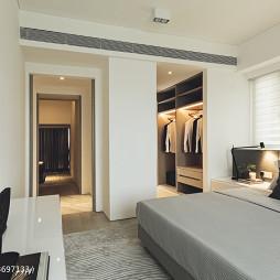 现代风格样板房卧室衣帽间装修设计