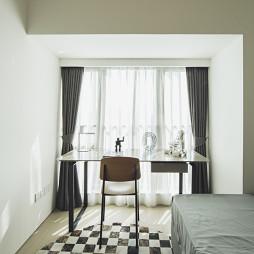 现代风格样板房卧室阳台装修设计