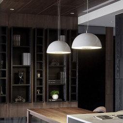 三居室混搭餐厅博古架设计效果图