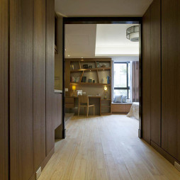 简约中式风格卧室衣帽间装修设计