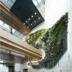 酒店大厅植物墙设计效果图